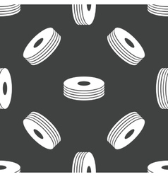Pile of compact discs pattern vector image