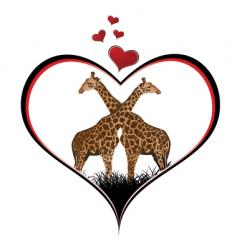 Giraffe heart vector