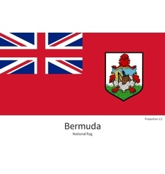 National flag of bermuda with correct proportions vector