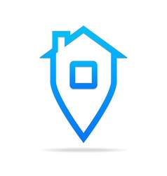 home point sign vector image