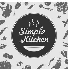 Simple kitchen emblem vector