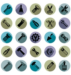 Repair instruments collection 3d tools vector
