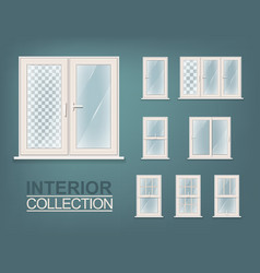 Windows photorealistic set vector