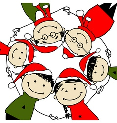 Merry christmas Happy family for your design vector image