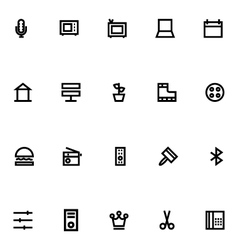 Apple watch icons 13 vector