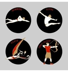 Athletes vector