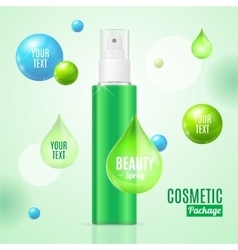 Beauty Spray Can Package Essence Bottle vector image vector image