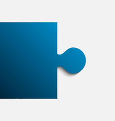 Blue piece puzzle jigsaw 2 step vector