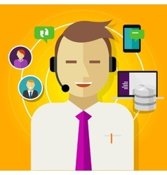 Call center crm customer relationship management vector