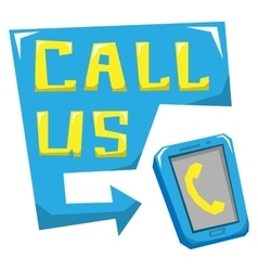 Call us vector image