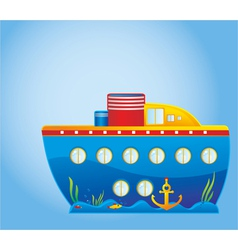 Childrens ship vector image