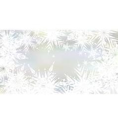 Christmas background with light snowflakes vector image vector image