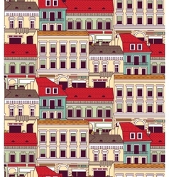 City buildings down town color seamless pattern vector