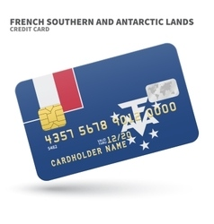 Credit card with french southern and antarctic vector