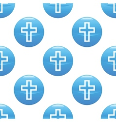 Cross sign pattern vector image