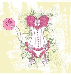 Decorative fashion of womens corset underwear vector