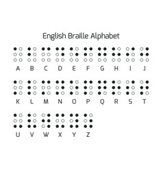 English braille alphabet letters braille is a vector