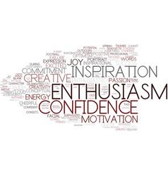 Enthusiasm word cloud concept vector