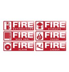 Fier Equipment Sign vector image