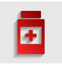Medical container sign vector image
