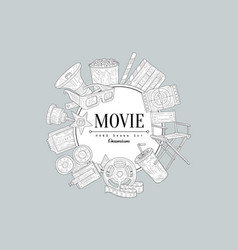 Movies vintage sketch vector
