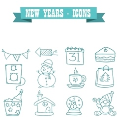 New years element of icons vector