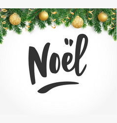 Noel hand drawn letters holiday greetings quote vector