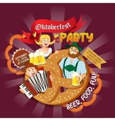 Oktoberfest party flyer vector image vector image