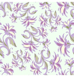 Ornate seamless pattern with abstract flowers vector image vector image