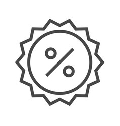 percent badge thin line icon vector image