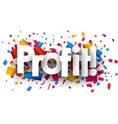 Profit paper card vector