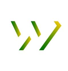 Reggae-inspired letter w vector