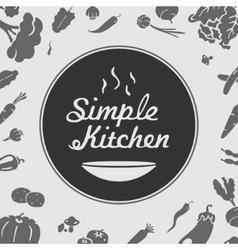 Simple Kitchen Emblem vector image vector image