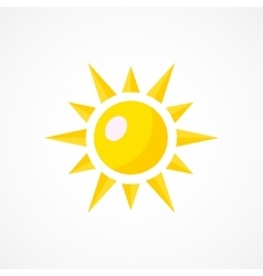 Sun Icon Sign vector image vector image
