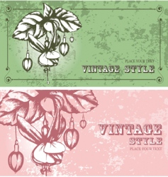 two floral backgrounds vector image