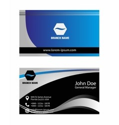 Various Business Card set vector image