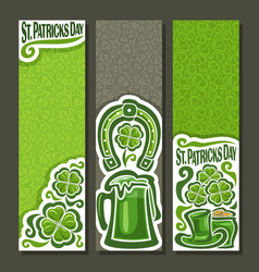 vertical banners for st patricks day vector image