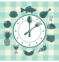 watch food vector image vector image