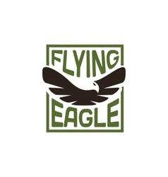 Isolated eagle silhouette logo Bird vector image