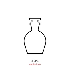 Old retro bottle icon vector