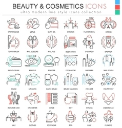 Beauty and cosmetics ultra modern color vector