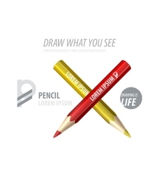 Pencil premium ad product template vector