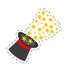 Magician hat magical glow design vector