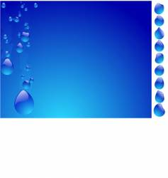 Drops on glass vector