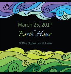 Ecology earth hour vector