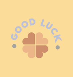 Flat icon on stylish background good luck clover vector