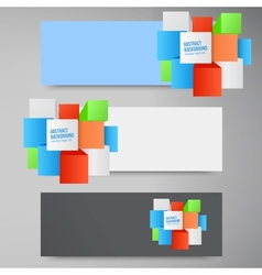 Abstract background square 3d object vector
