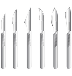 Stainless scalpels vector