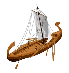 Old slavic ship vector