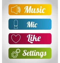 Mobile applications shop entertainment vector